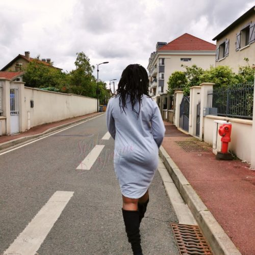 Pull gris à motifs Africain