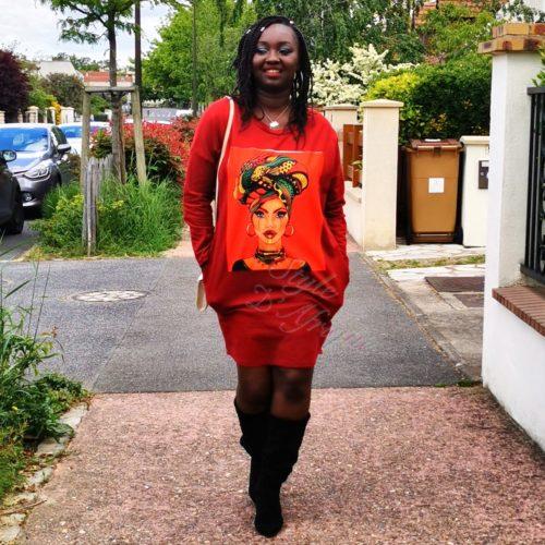 Robe pull à motifs Africains