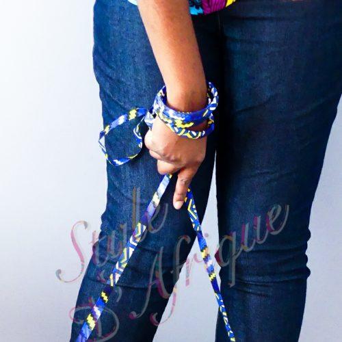 Parure bijoux Massaï bleue