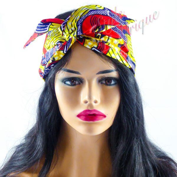 serre tête bandeau foulard wax africain coton