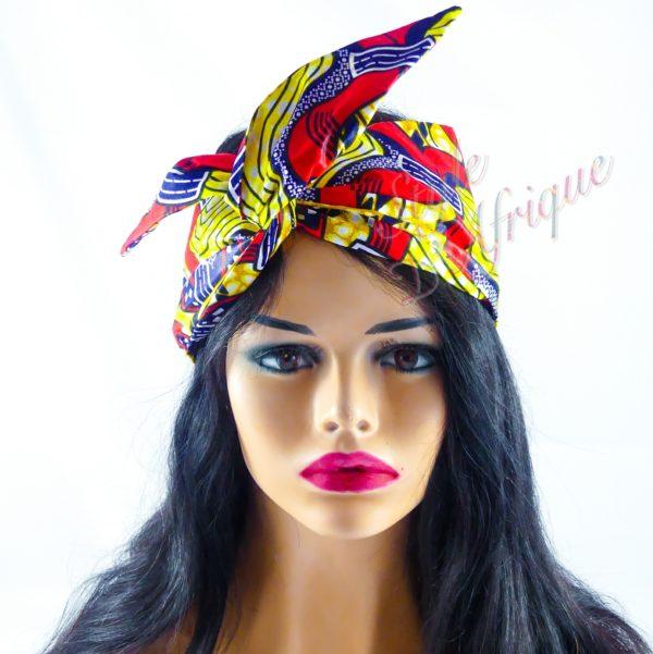 headband articulé sophie serre tête bandeau foulard wax africain coton