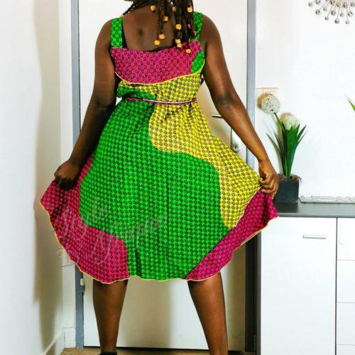 robe évasée wax africain femme. robe courte été wax africain bohème chic femme, robe de bal, robe été, robe de cérémonie femme, robe longue fleurie