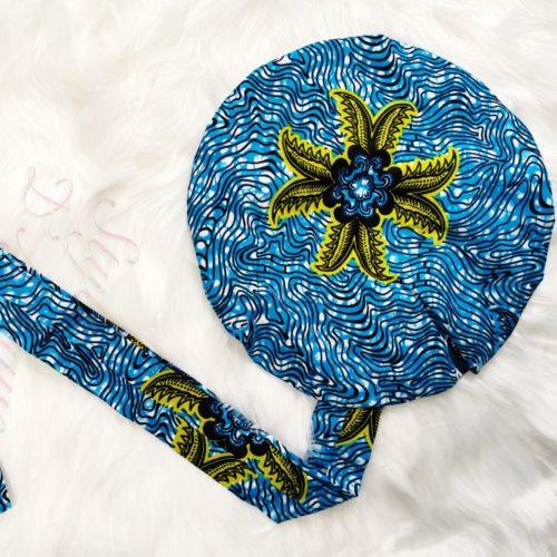 Turban Bonnet satin WAX Palme